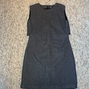 Kate Spade Saturday Shift Dress Wool Gray Size 0
